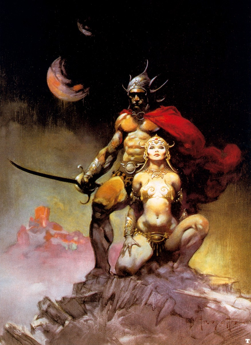 A Fighting Man Of Mars by Frank Frazetta (1973)