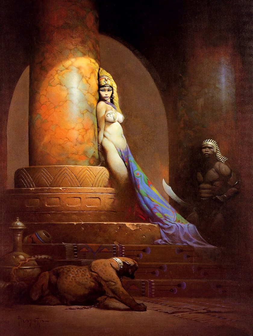 Egyptian Queen by Frank Frazetta (1969)
