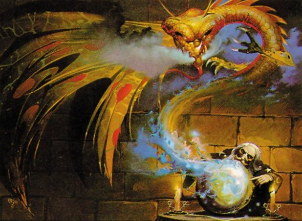 The Warlock of Firetop Mountain by Steve Jackson and Ian Livingstone, wraparound cover illustration by Peter Andrew Jones, 1982