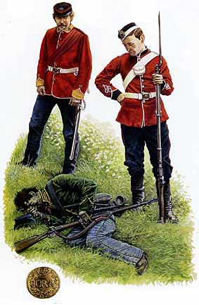 Artist's impression of a slain Irish Republican Army soldier during the Fenian invasions of Canada