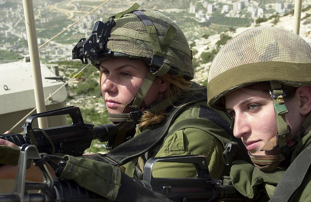 Troops from Israel garrisoned in an outpost overlooking the West Bank, Israeli Occupied Palestine