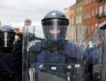 An officer of the Garda Public Order Unit or riot squad, An Garda Síochána, Ireland