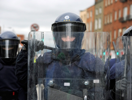 An officer of the Garda Public Order Unit or riot squad, An Garda Síochána, Ireland