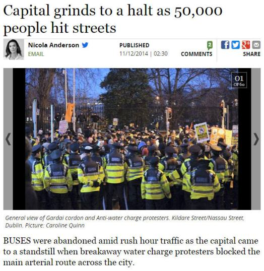 Capital grinds to a halt as 50,000 people hit streets