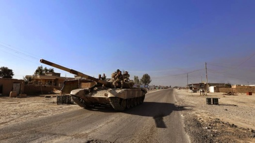 An Iranian T-72S pictured near Tikrit, Iraq, probably operating as part of the regular Iraqi army