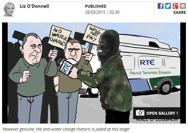 RTÉ or Recruit Terrorists Éireann in the Orwellian black propaganda of the authoritarian Irish Independent newspaper