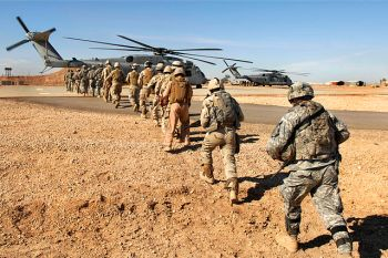 Soldiers of the United States and Iraqi armies participate in joint exercises, Iraq