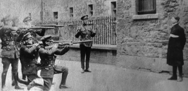 The-1922-execution-of-Rory-O'Connor,-Irish-Republican-Army,-by-an-Irish-National-Army-firing-squad-during-the-Irish-Civil-War