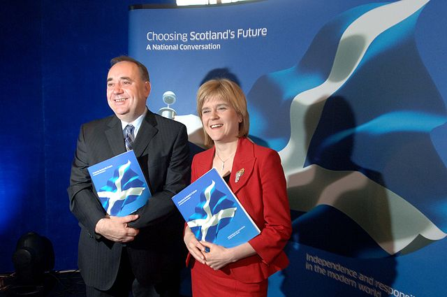 Alex Salmond and Nicola Sturgeon of the Scottish National Party or SNP