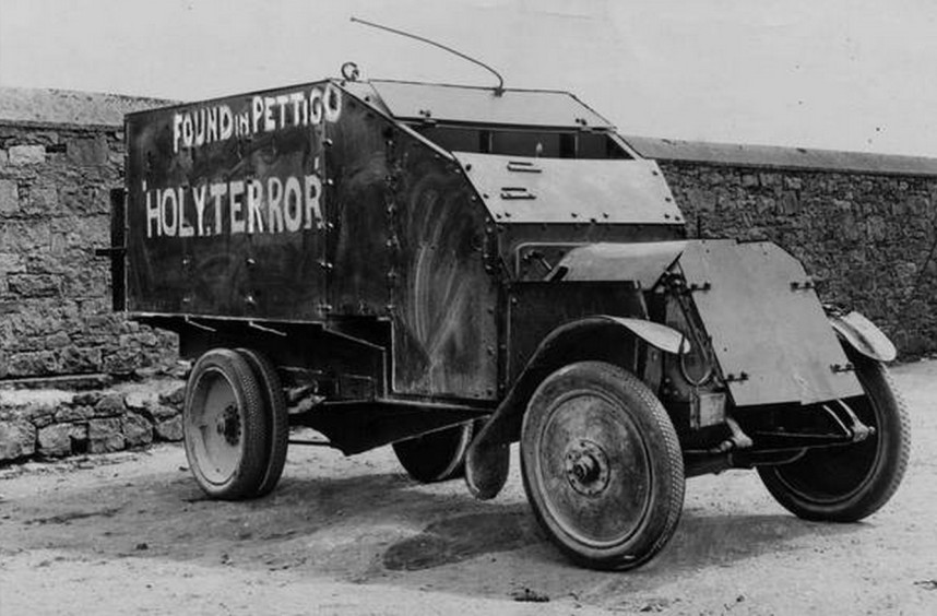 A Lancia Triota 1921 Armoured Truck captured from the British Forces by the IRA and then recaptured during the Battle of Pettigo, 1922