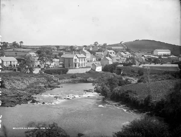 Belleek from the County Donegal or western side of the River Erne