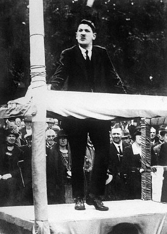 Michael Collins, the Sinn Féin TD for Armagh, addresses a massive rally in his constituency