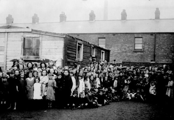 Orphaned children fleeing the slaughter of the British and unionist instigated Northern Pogroms find refuge in Dublin, 1922