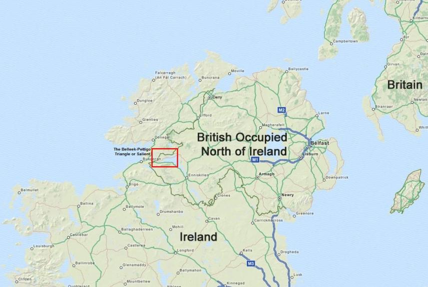 The modern Belleek-Pettigo Triangle or Salient, Ireland