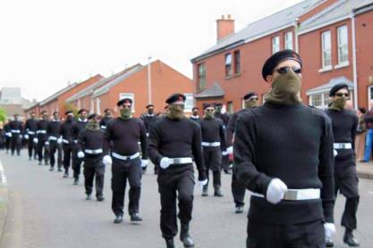 Uniformed Volunteers of the Irish National Liberation Army or INLA, Derry, Ireland 2015