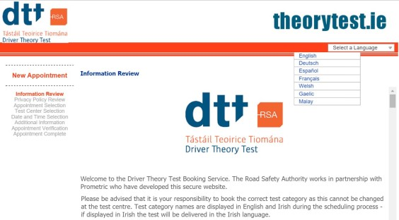 Driver Theory Test - In Gaelic