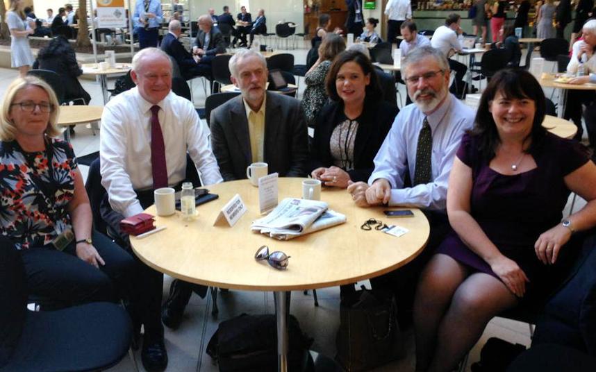 Sinn Féin meets UK Labour, Martin McGuinness, Jeremy Corbyn, Mary Lou McDonald and Michelle Gildernew