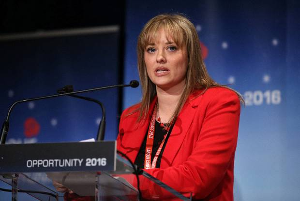 Mairia Cahill at the Labour Party conference