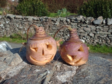 Turnip lanterns or jack-o'-lanterns from Scotland