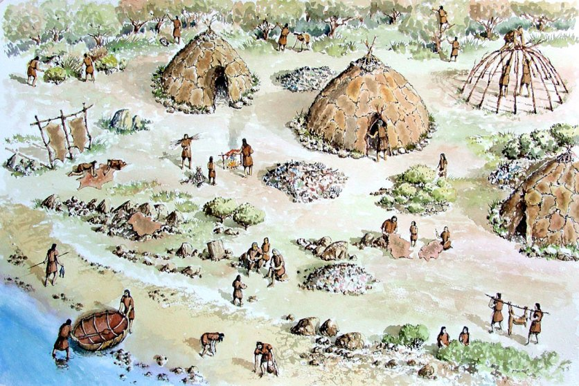 A temporary or seasonal camp for a hunter-gatherer community in Ireland during the Mesolithic Age
