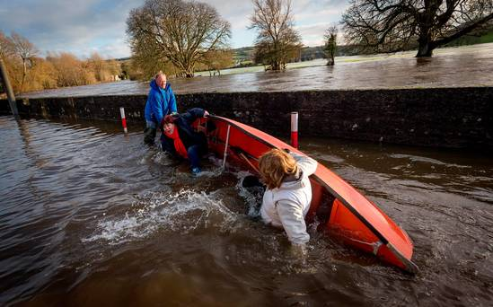 An tánaiste and Labour boss, Joan Burton, being attacked by sinister water elements
