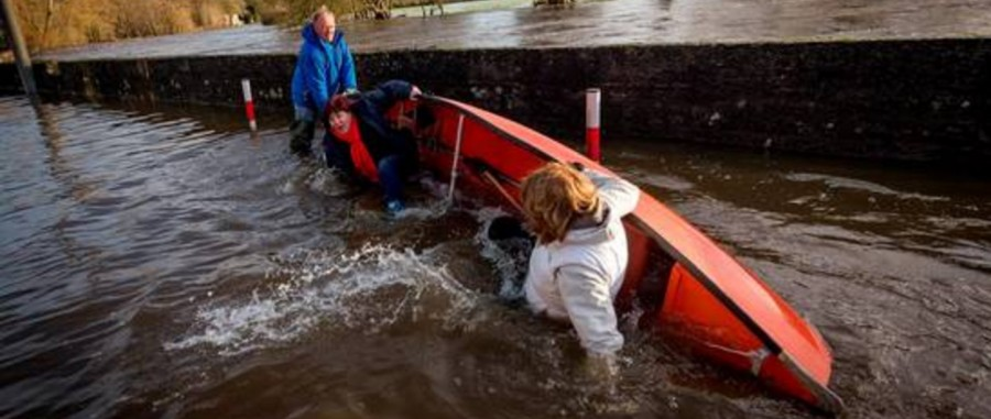 Joan Burton attacked by water