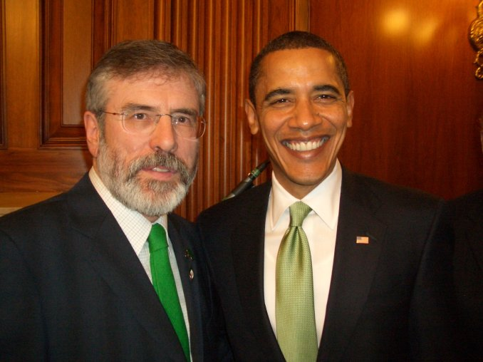 Sinn Féin president, Gerry Adams, and the president of the United States of America, Barack Obama