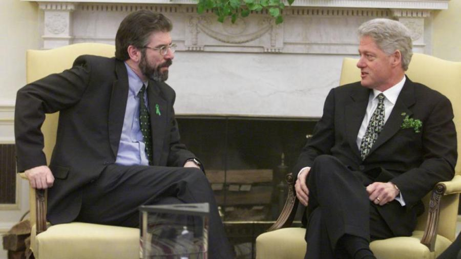 Sinn Féin president, Gerry Adams, and the president of the United States of America, Bill Clinton