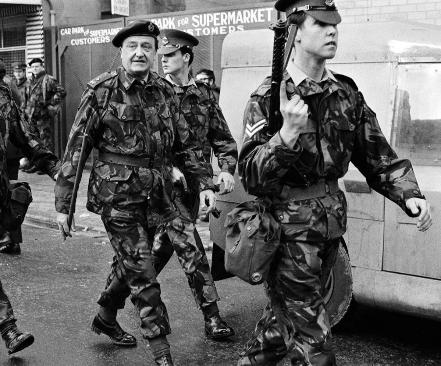The infamous British Army general and strategist, Harry Tuzo, one of the originators of modern UK terrorism in Ireland, pictured in Belfast, c. 1972