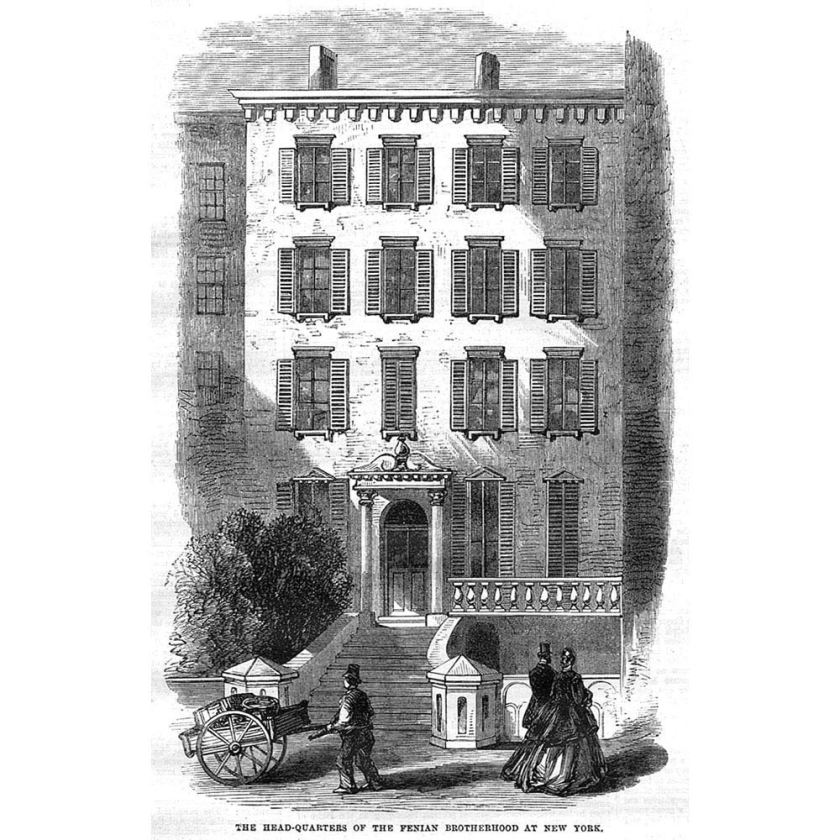 Headquarters of the Fenian Brotherhood of America, Moffat Mansion, 32 East 17th Street, Union Square, Manhattan, New York City, 1865