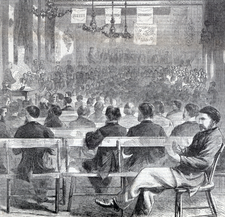 The 3rd General Convention of the Fenian Brotherhood of America, October 1865, the Assembly Building, Philadelphia, Pennsylvania