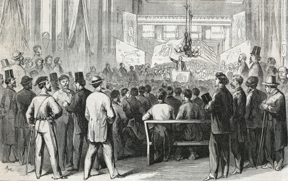 The 3rd General Convention of the Fenian Brotherhood of America, October 1865, the Assembly Building, the city of Philadelphia, Pennsylvania