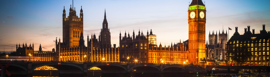 The British parliament at the Palace of Westminister, London, Britain
