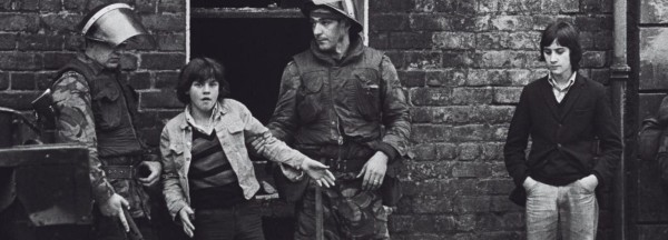 British soldiers detain Irish children on the streets of the UK Occupied North of Ireland