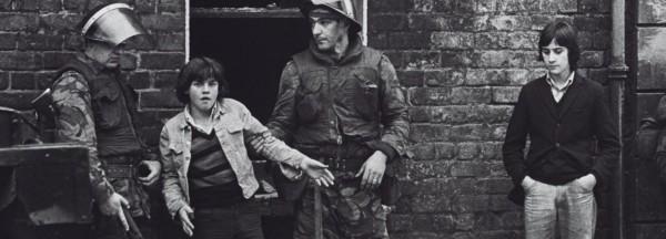 British soldiers detain Irish children on the streets of the UK Occupied North of Ireland