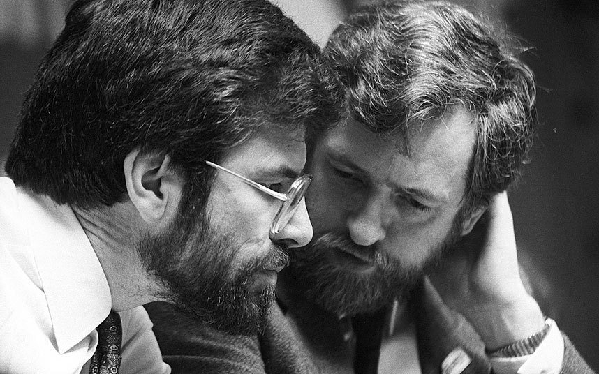 Gerry Adams MP of Sinn Féin and Jeremy Corbyn MP of the UK Labour Party