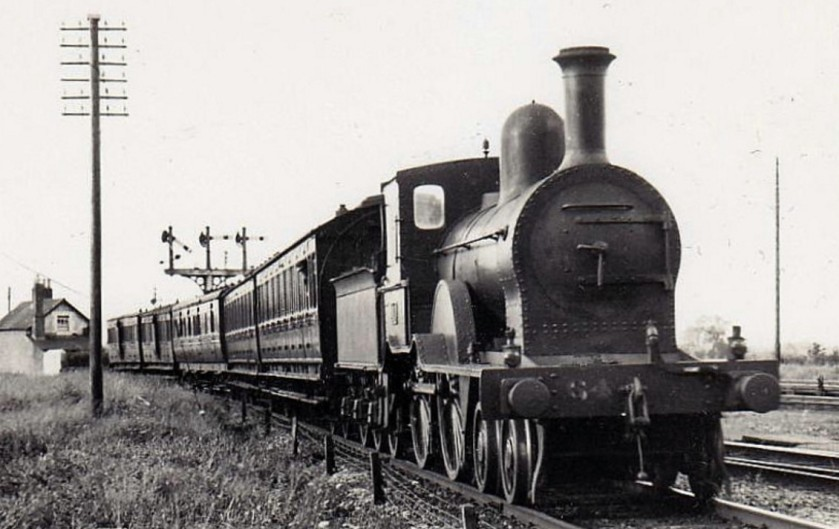 A GS&WR railway engine built by the Inchicore Railway Works in 1895. Note the steambox at the front
