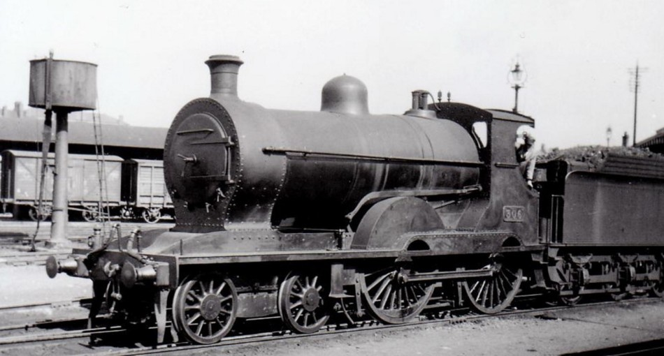 A GS&WR railway engine built by the Inchicore Works in 1902. Note the steambox at the front