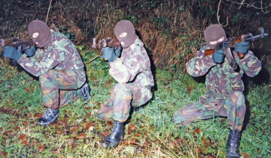 An Active Service Unit of the Irish Republican Army, UK Occupied North of Ireland