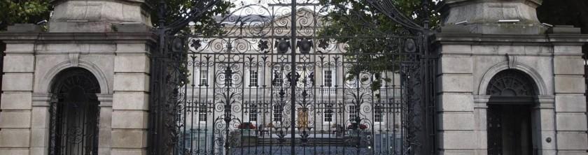 Tigh Laighean or Leinster House, seat of Dáil Éireann and Seanad Éireann, Dublin, Ireland