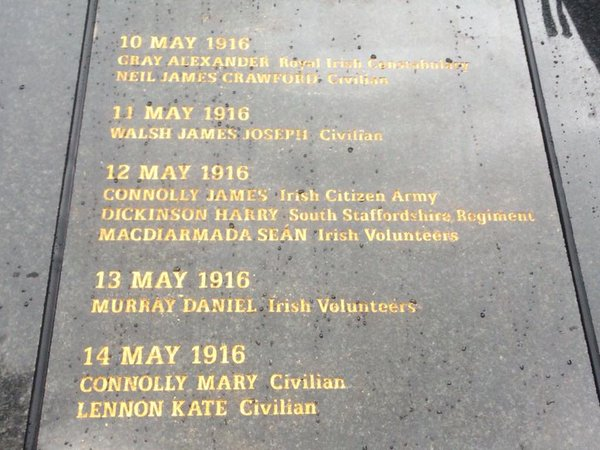 Names of British Army killers honoured on Glasnevin's 1916 Rememberance Wall alongside those they killed