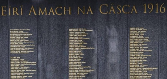 The misspelled Glasnevin 1916 Remembrance Wall