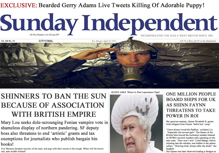 The Sunday Independent, less a newspaper more a paranoid conspiracy