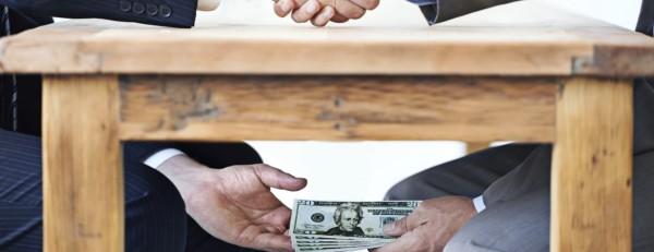 Corruption, finance, bribery, business and politics