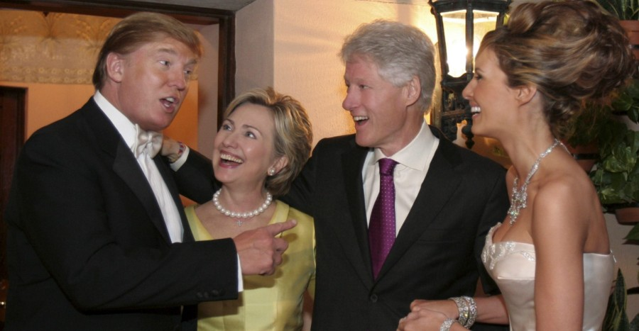 True friends. Donald Trump, Hillary Clinton, Bill Clinton, Melania Trump
