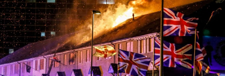 Eleventh Night and July Twelfth bonfires burn in Belfast as unionists and Orange Order celebrate