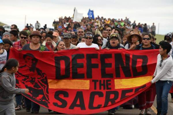 native americans protest north dakota oil pipeline construction
