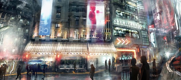 a-science-fiction-or-anime-and-manga-city-and-streets-in-the-rain-a-future-japan