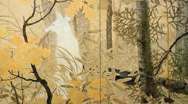 the-white-fox-by-kanzan-shimomura-1914