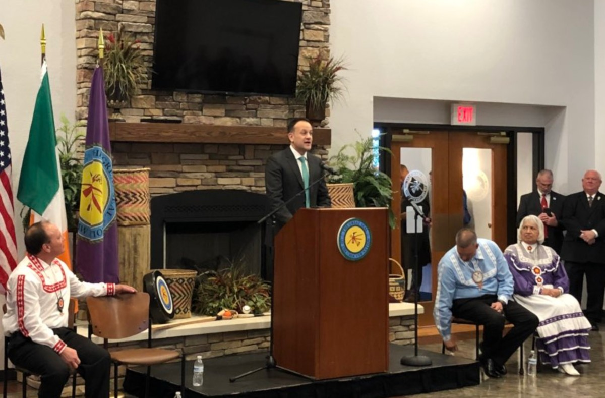 Leo Varadkar's Full Speech To The Choctaw Nation On Behalf Of Ireland